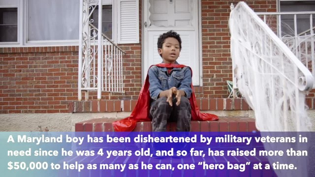 8-year-old Maryland boy raises over $50,000 to help homeless veterans in 4 years