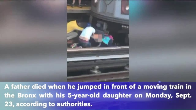 Father killed after jumping in front of train in Bronx while holding daughter