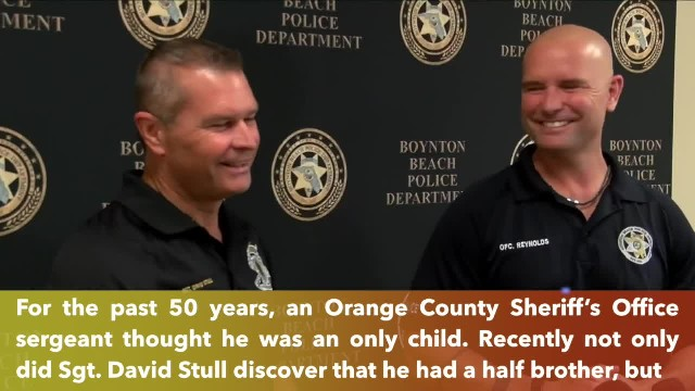 Florida deputy who was adopted as a baby found out he has a half brother, a Florida police officer