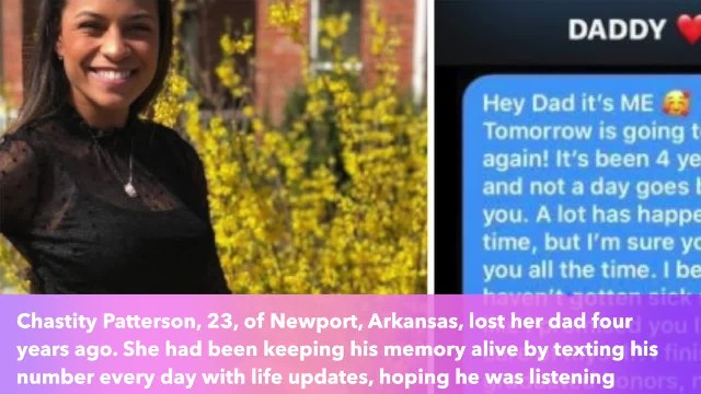 Woman texted her dad's phone on 4th anniversary of death. This year, she got a reply