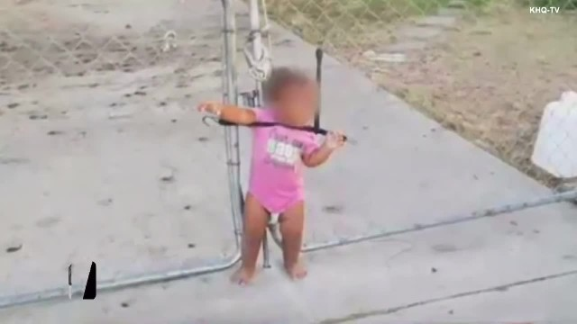 Toddler Found Tied To Wire Fence With Bungee Cord Around The Neck By Neighbor
