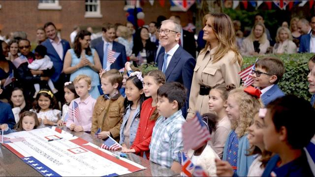 First Lady Melania Trump's Visit to the United Kingdom