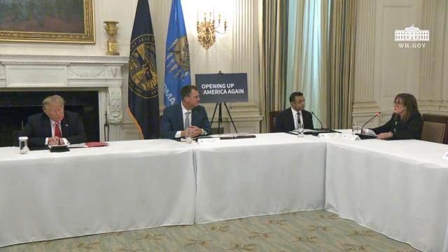 President Trump participates in a roundtable on the reopening of America's small businesses