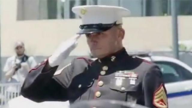 For three hours this injured marine held salute. The bikers' response hit me hard
