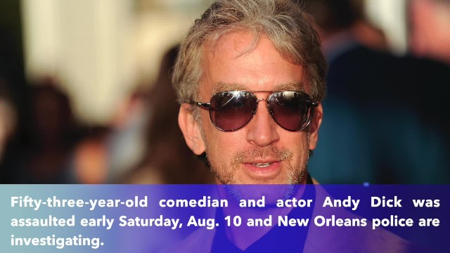 New Orleans police wait for Andy Dick's available to detectives after the comedian's brutal attack v