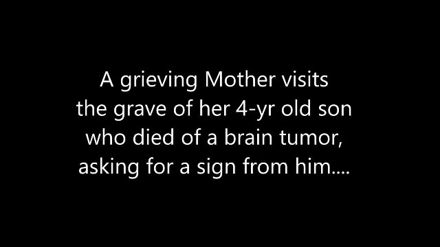 "Mother Who Lost Her Young Son To Cancer Gets ""A Sign"" While Visiting His Grave"