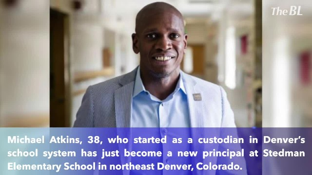 Once a custodian, Michael Atkins's now an elementary school principal- 'Don't let someone write your