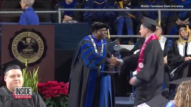 Veteran Who Was Shot 13 Times While Serving In Iraq Graduates From Middle Tennessee State University