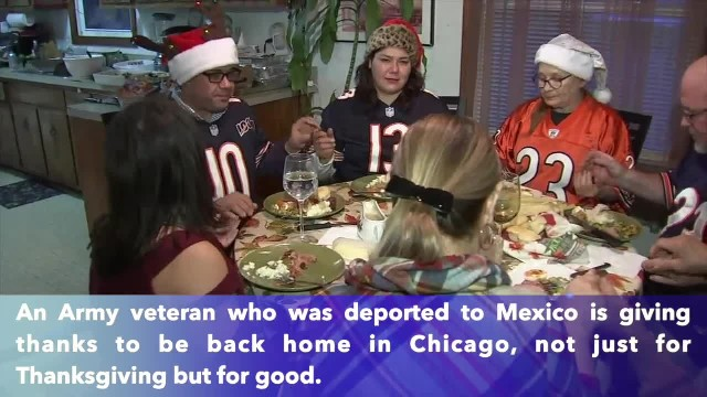 Deported Army veteran Miguel Perez celebrates Thanksgiving at Chicago home after becoming US citizen
