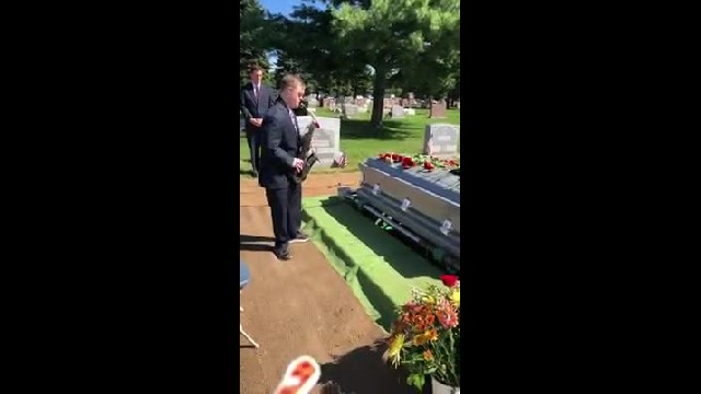 Saxophone player with Down's syndrome plays at grandpa's funeral