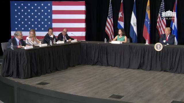 President Trump participates in a roundtable on supporting the people of Venezuela
