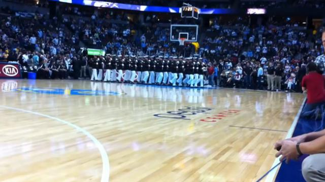 The United States Marine Corps brought down the house with a performance like no other