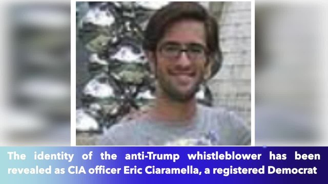 President Trump's whistleblower's identity is revealed — 33-year-old registered Democrat