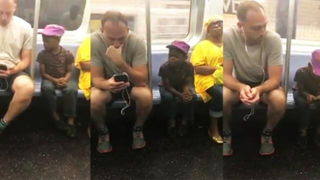 Witness a heartwarming moment between a man and the little boy
