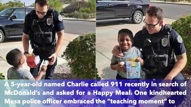 Five-year-old Arizona boy calls 911 for McDonald's, and police officer delivers