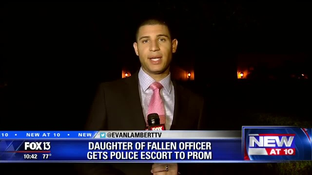 Two years after teen's dad dies unexpectedly, a line of cop cars shows up outside her senior prom