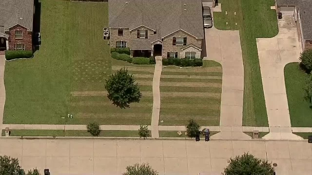 North Texas Teen Mows American Flag Image Into Yard for Fallen Soldier - NBC 5 Dallas-Fort Worth