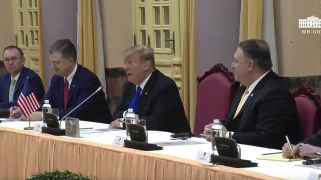 President Trump Participates in a Bilateral Meeting with the President of the SRV