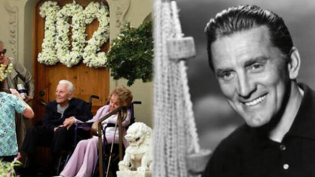 Kirk Douglas celebrates 102nd birthday alongside beloved wife Anne Buydens, 99