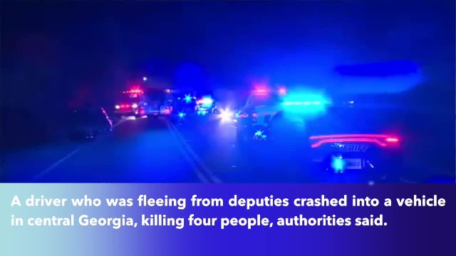 Four killed after fleeing car crashes into vehicle in central Georgia!