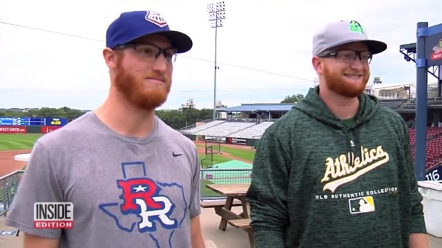 These two baseball players could be identical twins, but had never met before