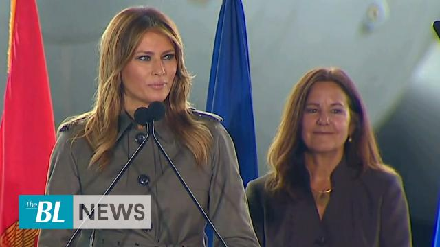 Melania Trump and Karen Pence visit with Troops and Students in South Carolina