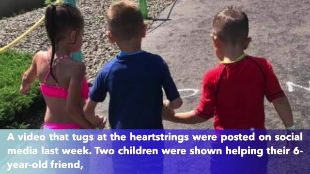 'It was heartwarming' 2 children help 6-year-old boy with cerebral palsy navigate through water park