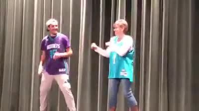 Son starts his dance routine at school talent show – but when mom storms the stage, the audience goe