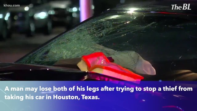 Man may lose both his legs after trying to stop carjacking with his wife inside
