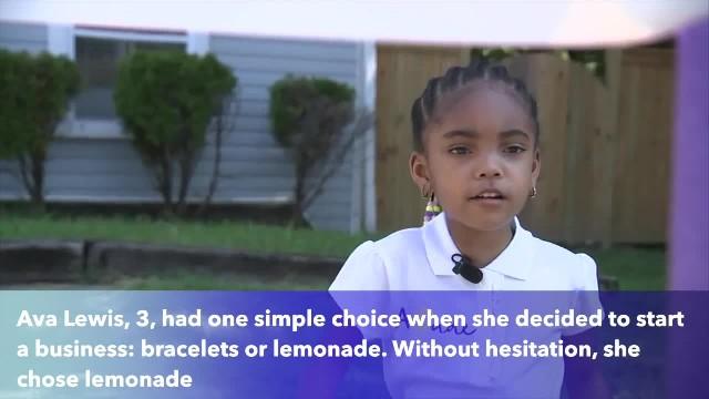 Toddler runs lemonade stand to help babies in need