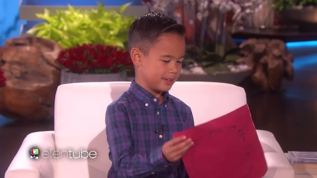 Boy Sings Ed Sheeran Song For Ellen And Has No Idea Ed Is Sitting Right Behind Him