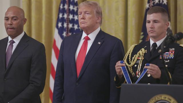 President Trump and the First Lady Present the Medal of Freedom to Mariano Rivera