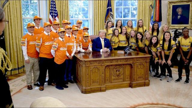 President Trump Welcomes The Little League World Series Champions ⚾️