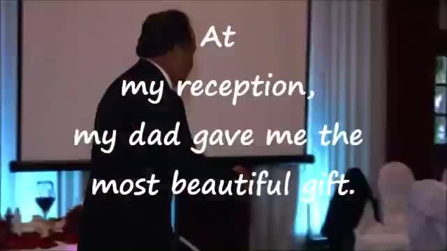 Dad refused to give speech at his daughter's wedding and did this instead…OMG