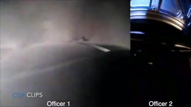 Hero cops run towards burning car & body cams catch rescue seconds before explosion