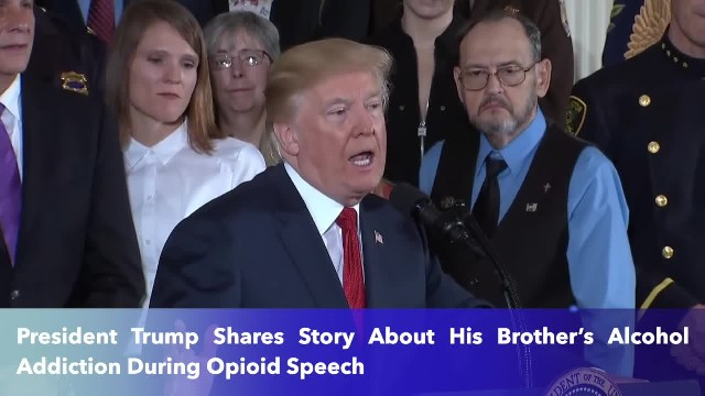 President Trump Shares Story About His Brother's Alcohol Addiction During Opioid Speech
