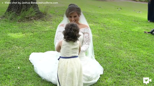Little Girl Causes Bride To Fall To Her Knees As She Realizes Her True Identity