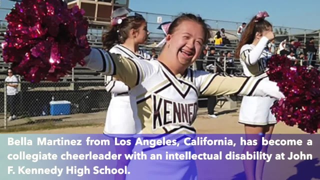 Cheerleader with Down syndrome thriving in California high school