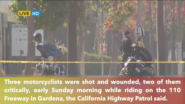 3 motorcyclists wounded, 2 critically, in shooting while riding on California freeway