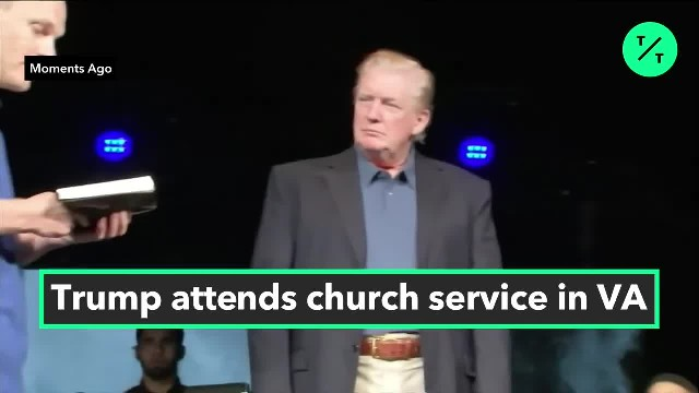 Trump Attends Virginia Beach Church Service to Honor Victims