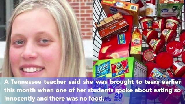 Teacher breaks down in tears after hungry student asks her for SpaghettiOs