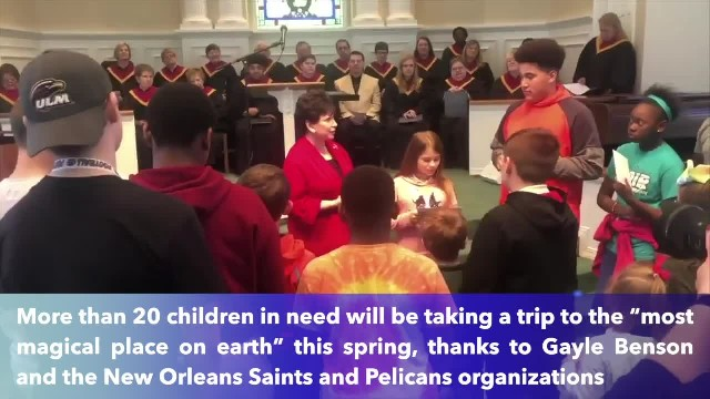 Gayle Benson gifts children's home with all-expense-paid trip to Disney World !