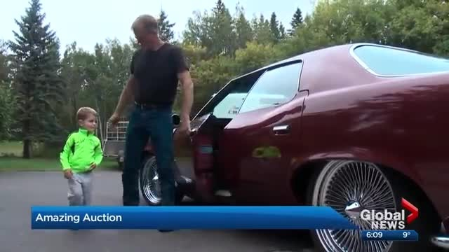 Emotional classic car auction stuns family of young Red Deer couple killed in motorcycle crash