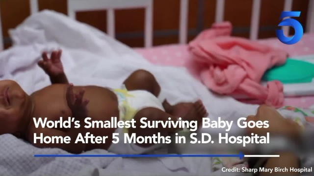 World's smallest surviving baby goes home after 5 months in San Diego hospital