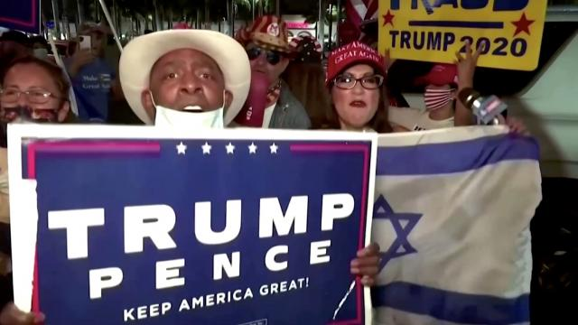 Latino Trump supporters protest in Miami