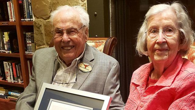 Oldest living married couple - ages 106 and 105 - celebrates their 80th wedding anniversary.
