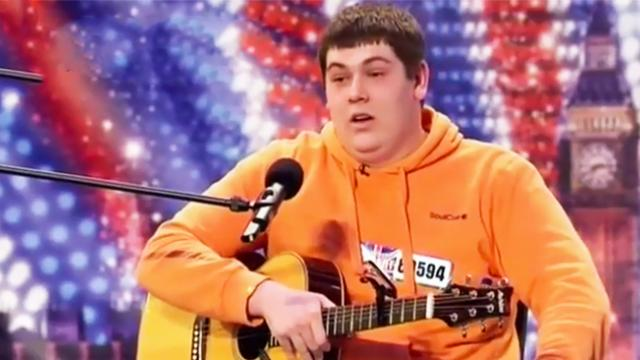 Shy computer engineer almost chokes at his audition, but his voice blows the crowd away