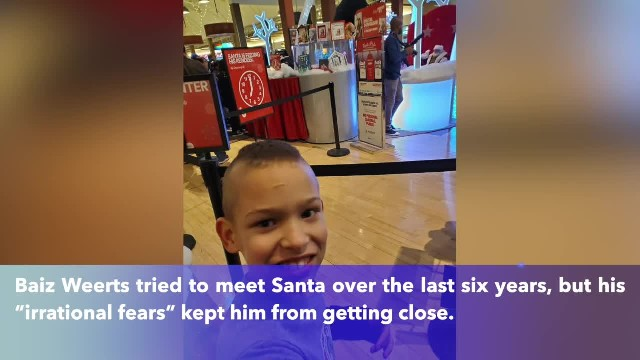 When Illinois boy with autism is afraid of meeting Santa Claus, Santa comes to him