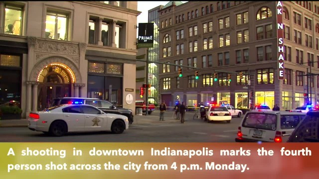 Downtown shooting marks 4th person shot in Indy within 3 hours