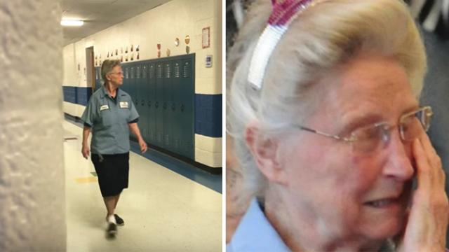 77-year-old janitor kept a secret, staff discovers truth & confronts